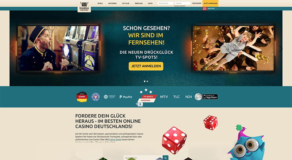 DrückGlück Casino Konto löschen / Account löschen